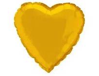 """Фольгований куля """"Серце"""" золото 45 см, Flexmetal Іспанія"""