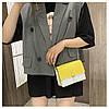 Желтая с бежевым сумка, фото 2