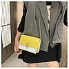 Желтая с бежевым сумка, фото 6