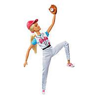 Шарнирная Кукла Барби Блондинка Безграничные движения Бейсболистка - Made to Move Baseball Player Barbie Doll