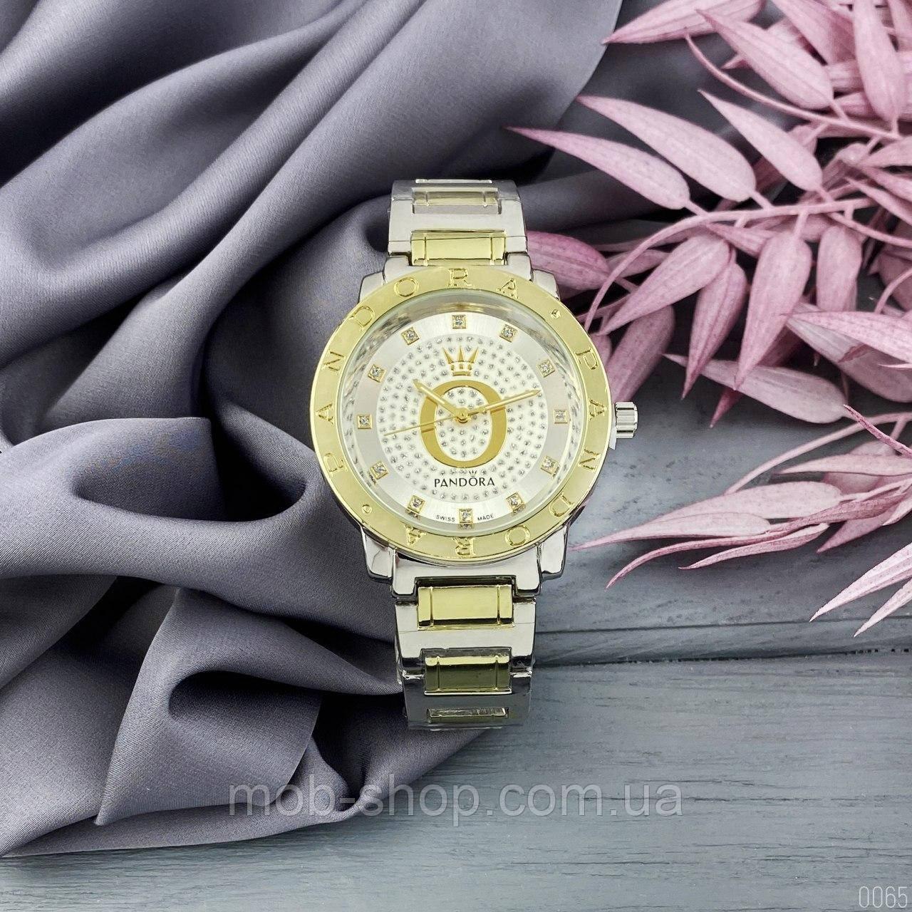 Женские наручные часы Pandora 6301 Z Diamonds Silver-Gold-Silver