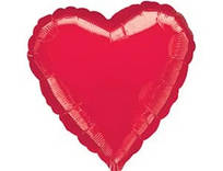 """Фольгований куля """"Серце"""" червоне 45 см, Flexmetal Іспанія"""