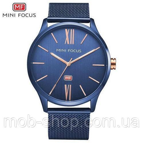 Наручные часы Mini Focus MF0018G.04 All Blue Оригинал Годовая гарантия на механизм