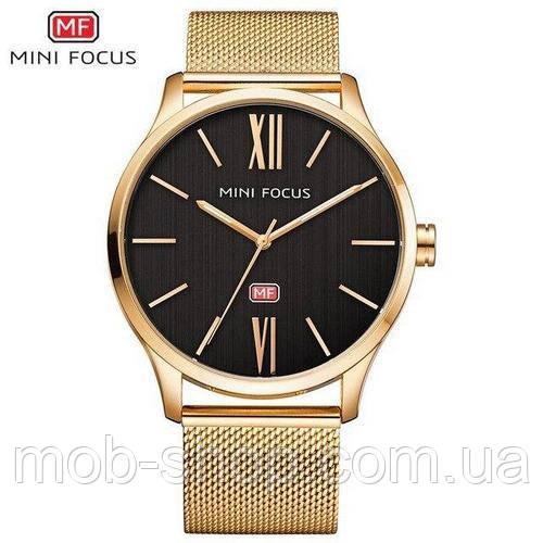 Наручные часы Mini Focus MF0018G.05 Gold-Black Оригинал Годовая гарантия на механизм