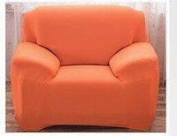 Чехол на кресло универсальный HomyTex Бифлекс Оранжевый, 90*140