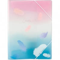 Папка на резинке A4+ Axent Colourful Feather № 1507