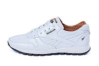 Мужские кожаные кроссовки Reebok Classic White Pearl (реплика)