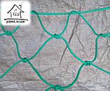 Гамак веревочный одноместный на лакированной планке, фото 2