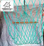 Гамак веревочный одноместный на лакированной планке, фото 4