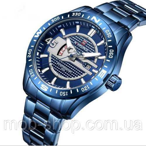 Наручные часы Naviforce NF9157 All Blue Оригинал годовая гарантия на механизм