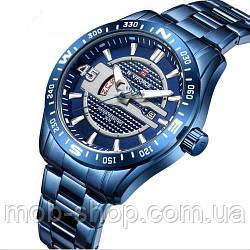 Наручний годинник Naviforce NF9157 All Blue Оригінал річна гарантія на механізм
