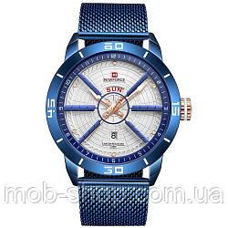 Наручний годинник Naviforce NF9155 Blue-White Оригінал річна гарантія на механізм