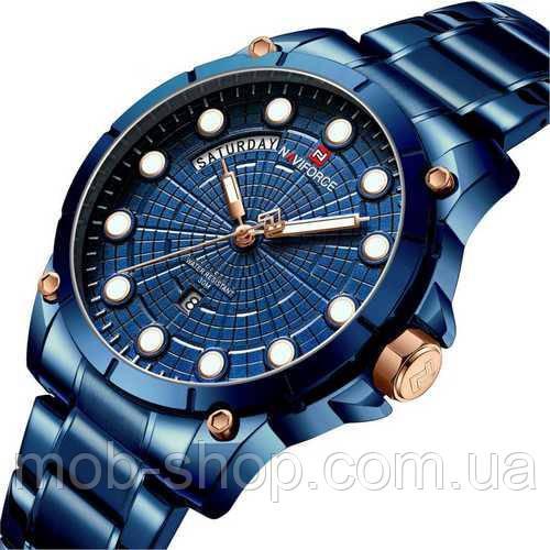 Наручний годинник Naviforce NF9152 All Blue Оригінал річна гарантія на механізм