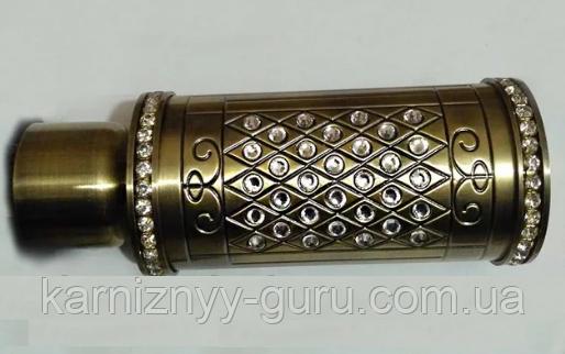 Декоративный наконечник Цилиндр кристаллы  ø 35мм