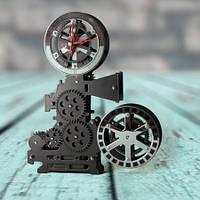 Часы Gear Clock Кинопроектор (черный)