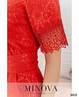 Привабливе плаття, прикрашене на рукавах і подолі мереживом з 46 по 54 розмір, фото 9