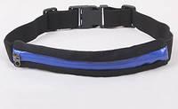 Сумка-пояс для спорта синяя