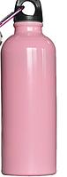 Фляга алюминиевая питьевая 0,5 л розовая