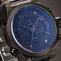 Мужские наручные часы Shark SH343 Black Men LCD Digital Steel Quart , фото 1