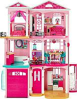 Игровой набор для девочек Трехэтажный Дом мечты Малибу для кукол Барби с мебелью, 120х96 см- Barbie Dreamhouse