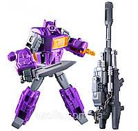 Игрушка для мальчиков Конструктор Робот-Трансформер Шоквейв, 12 см - Waveblaster, G1, Masterpiece, KuBianBao