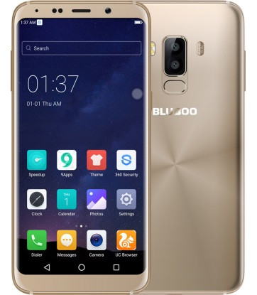 "Смартфон Bluboo S8 3/32Gb Gold, 13/5Мп, экран 5.7"" IPS, 2sim, 4G, 8 ядер, GPS, 3450mAh, Android 7.0"
