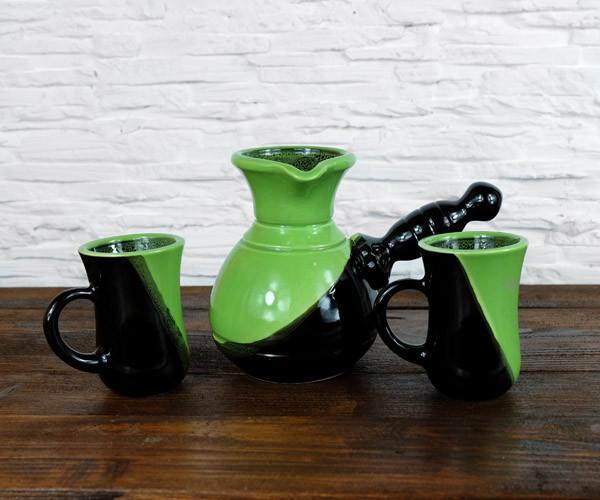 Турка Авангард керамика 300 мл с двумя чашками