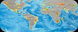 Скретч карта Discovery Map World на английском языке, фото 2