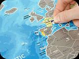 Скретч карта Discovery Map World на английском языке, фото 4