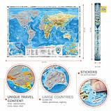 Скретч карта Discovery Map World на английском языке, фото 6