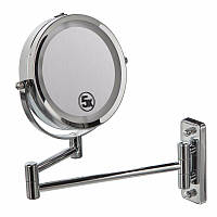 Двойное зеркало для бритья / макияжа с креплением на стену 5Х