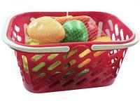 Корзинка красная с овощами, 11 предметов KW-04-454