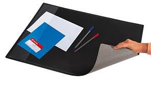 Подложка настольная Panta Plast 652х512 мм PVC с карманом черная (0318-0013-01)