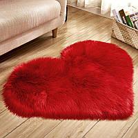 Коврик Сердце Пушистый MacroHorizon Красный 40*50 см (MG-RUG-2005122)