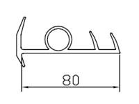 Профиль резиновый 80мм