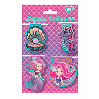Закладки магнитные YES «Mermaid», высечка, 4шт