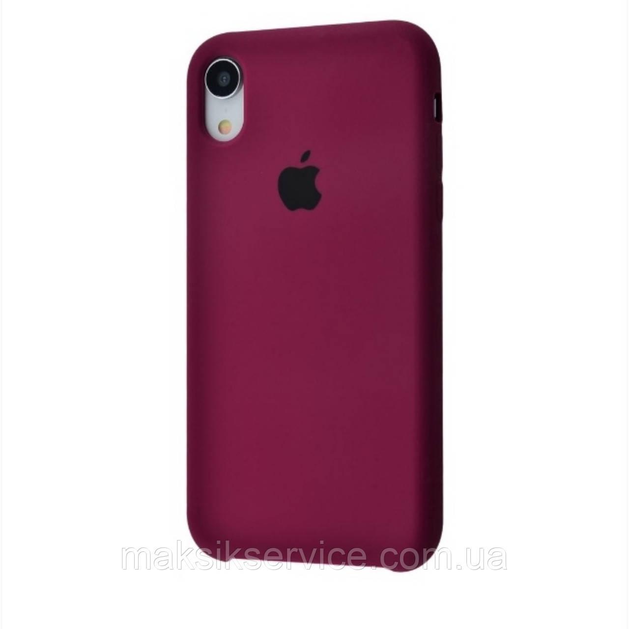 Чехол Silicone Case iPhone X/Xs марсал