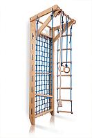 Гладиаторская сетка для дома, спортивный детский комплекс-уголок, турник, канат, кольца 220х80 см S8-220