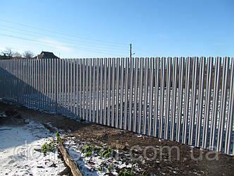 Монтаж забора из металлического штакетника в Харькове, фото 2