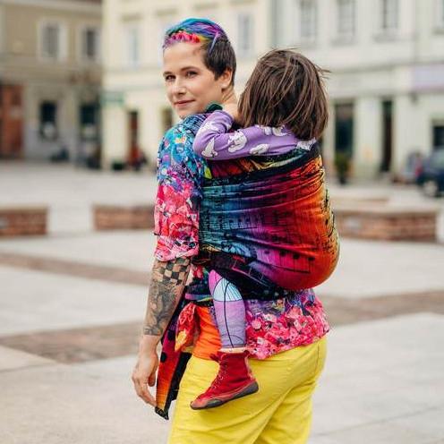 Слинг-шарф LENNYLAMB Symphony Rainbow Dark (4,6 м)