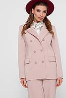 Классический женский однотонный пиджак на пуговицах цвет бежевый пиджак Паркер2