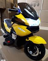 Детский электромобиль мотоцикл BMW R1200RT - HZB-118 желтый