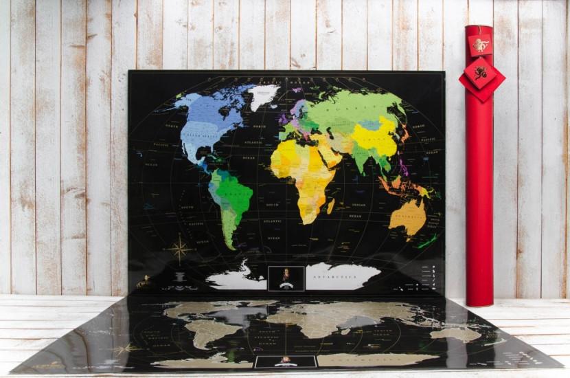 Скретч карта My Maps Black edition в наборе для любимого человека In Love
