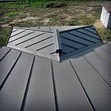 Алюминиевая кровля из фальца Фальцова покрівля з алюмінію Влаштування Монтаж, фото 5
