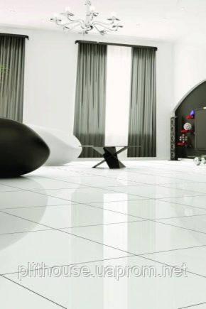 Біла глянцева плитка для підлоги: тонкощі вибору