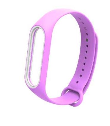 Ремешок для фитнесс браслета Xiaomi Mi Band 3/4 Сиреневый