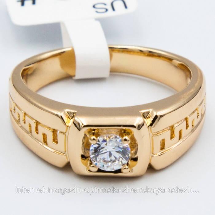 Шикарное кольцо с белым цирконом, размер - 19,20,21, цвет - золото