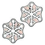 Huzzle Snow 2* Металлическая литая головоломка Снежинка Hanayama (Japan), фото 3
