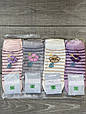 Женские короткие хлопок носки в полоску Montebello с цветком 35-40 12 шт в уп микс цветов, фото 4