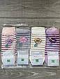 Жіночі патіки  бавовна шкарпетки в смужку Montebello з квіткою 35-40 12 шт в уп мікс кольорів, фото 4